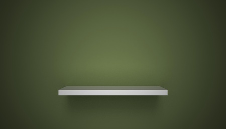 3D empty shelf on wall. Stock Photo - 10442853