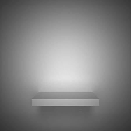 3D empty shelf on wall. Stock Photo - 10442863
