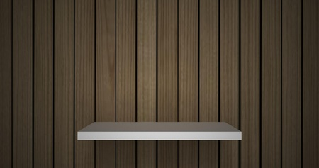 3D empty shelf on wall. Stock Photo - 10442864