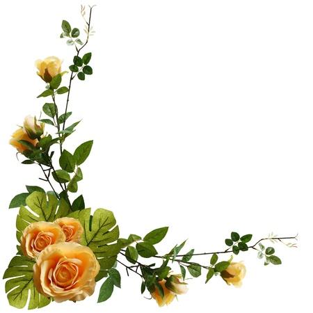 Beautiful flower frame Stock fotó
