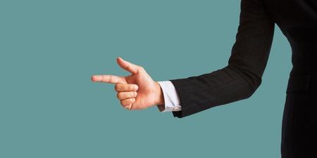 businessmans hand photo