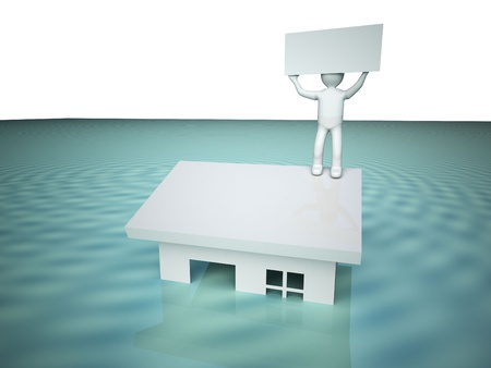 Flooded house. photo
