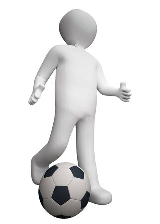 3d football player. photo