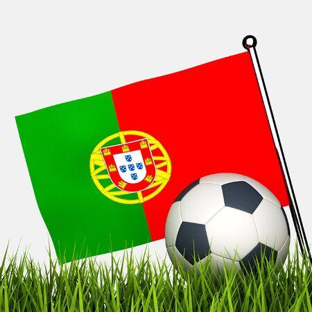 drapeau portugal: un ballon de soccer