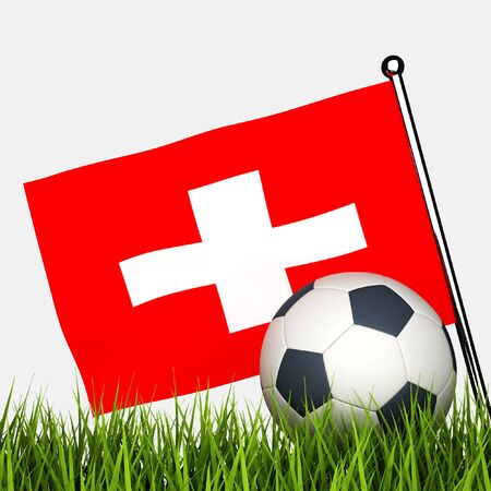 switzerland flag: soccer ball