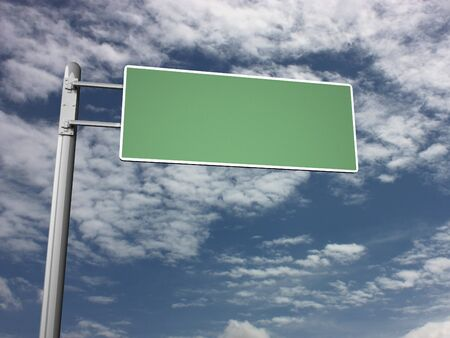 interstate: Freeway Exit Sign Stock Photo