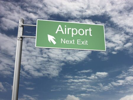 Freeway Exit Sign Stock Photo