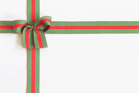 holiday bow on white background photo