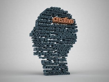 expertise concept: 3d Head concept