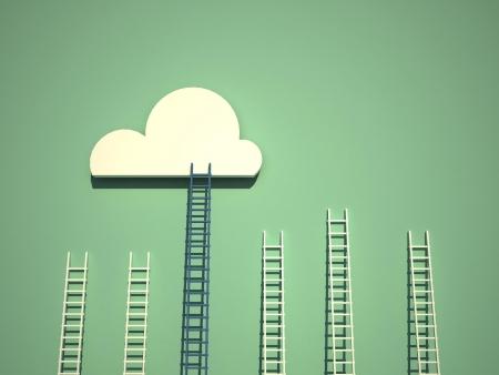 soledad: escaleras concepto Foto de archivo
