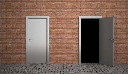 open doors: door