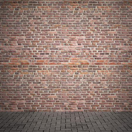 clay brick: brick wall Stock Photo
