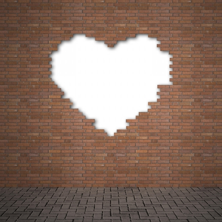 collapsed: brick wall Stock Photo