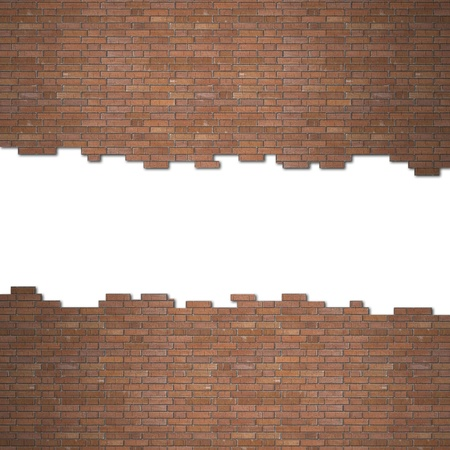 holes: brick wall Stock Photo