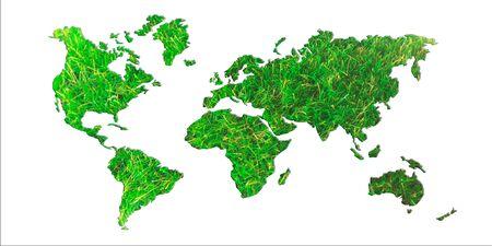 the natural world: Grass world map
