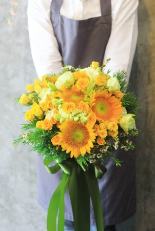 Bouquet of sunflowers photo