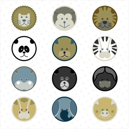 zebra head: animals icons