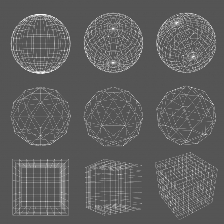 sphere icon: Geometry Wireframe  Illustration
