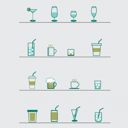 Drink icons Stock Vector - 22069627