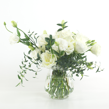 flowers in vase isolated.