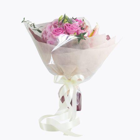 bouquet fleur: Bouquet flower on white background. Banque d'images