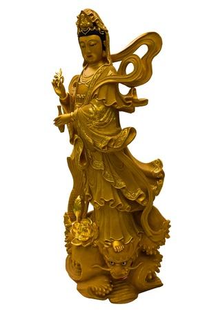 bodhisattva: Kuan Yin white background Stock Photo