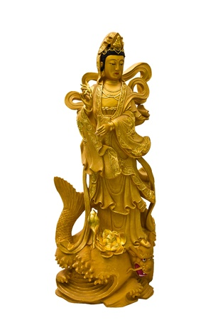Kuan Yin white background  photo