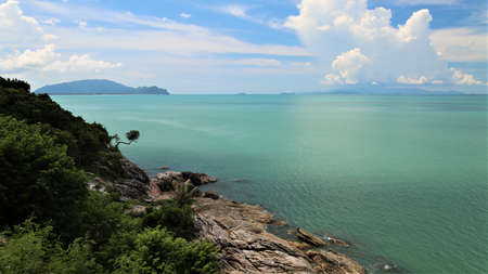 sea coast with rocks at Khao Pladam Khanom Nakhon si thummarat Thailand Stock fotó - 152678160