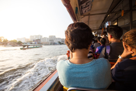 praya: Express boad on chaw praya river in thailand