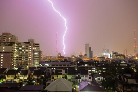 thundershower: Lightning storm in the bangkok , Thailand