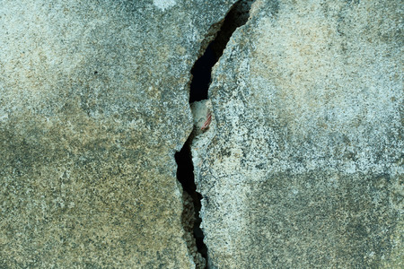 cracked cement: cracked cement