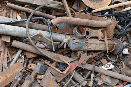 dump yard: Parts of garbage that is not recycled steel.