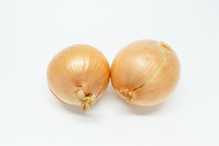 red onions: Red onions on white background