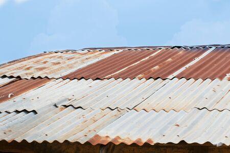 tin: Old Tin Roof rot Stock Photo