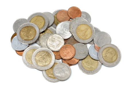 Coin Currency THB White background