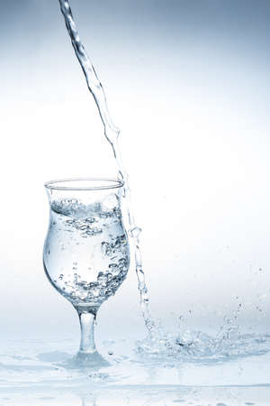 pour water: Pour water glass