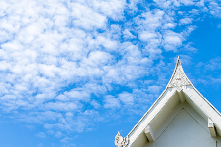 gabled: Gabled roof sky Stock Photo