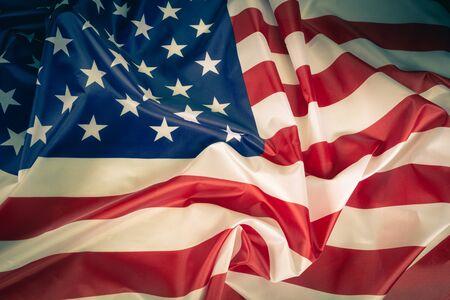 Nahaufnahme der amerikanischen Flagge Hintergrunddetailkunst