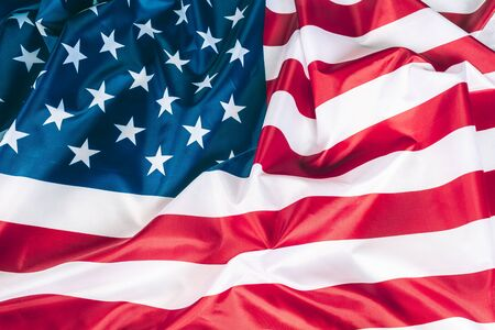 Closeup american flag background detail art Stockfoto