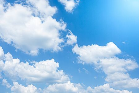 Blue sky and bright cloud detail nature art