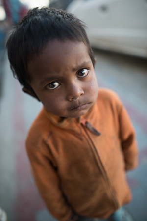 underprivileged: Leh Ladakh , India - August 6: Unidentified Children in leh market 6, 2015
