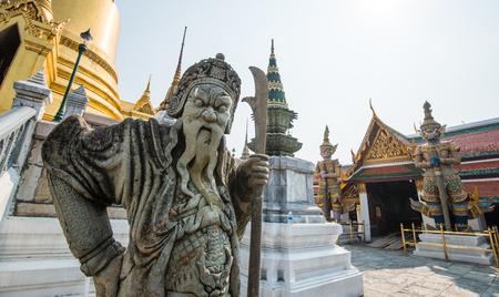 Wat Phra Kaew: Statue in Wat Phra Kaew , Bangkok ,Thailand