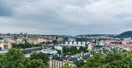praga: Prague, Vltava River and Bridges in Prague , Czech republic Stock Photo