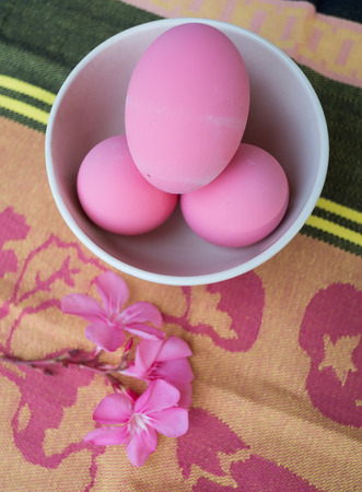 Preserved eggs pink