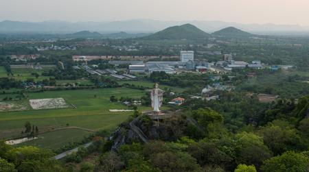 jesus statue: Jesus statue on mountain