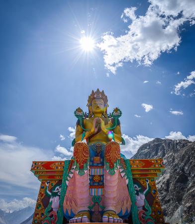 Buddha in Diskit, Leh Ladakh , India Editorial