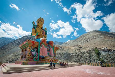 Buddha in Diskit, Leh Ladakh , India Stock Photo