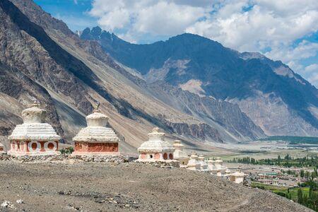 Buddhist stupa , Ladakh, India Stock Photo