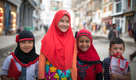 Leh Ladakh , India - August 11 : Unidentified Children in leh market 11, 2015 Editorial