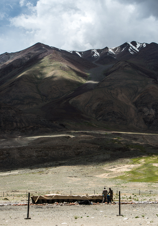View of  Mountain Range Landscape, Leh Ladakh , India Stock Photo